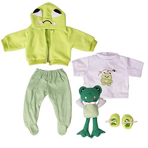 Yesteria Vestiti Bambole per Bambole Reborn da 50-55 cm Rana Verde