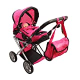 Mommy & Me Baby Doll Stroller Deluxe Foldable 4 in 1...