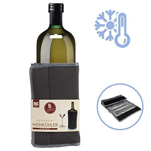 Durandal Neopren Weinkühler ca. 34 x 20 cm | Sektkübel & Champagnerkühler mit Manschette | Kühlbehälter für alle Getränke | Flaschenkühler auch für unterwegs