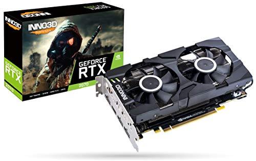 INNO3D GeForce RTX 2070 Twin X2 Rev.2 silber 8GB GDDR6 Grafikkarte