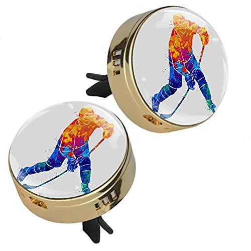 Indimization Ambientadores De Coche para Mujer Clip De Ventilación Dorado Metal Cristal Cristal Pantalla 3D +4 Almohadillas De Recarga 2 Piezas 33.8mmX46.4mm