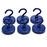 "Strong Ceramic Magnetic Hooks - 1.26"" in Diameter Can Hold up to 18 Lbs of Direct Pull Under Ideal Conditions Perfect for Using to Hold Items Such as Keys or Banners Up Convenient Hardware Which Can Be Used in Warehouses, Offices, Homes and Schools M..."
