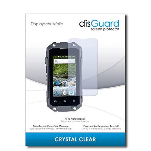 disGuard® Bildschirmschutzfolie [Crystal Clear] kompatibel mit Simvalley Mobile SPT-210 [2 Stück] Kristallklar, Transparent, Unsichtbar, Extrem Kratzfest, Anti-Fingerabdruck - Schutzfolie