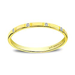 Natural untreated diamond and solid 10 karat gold wedding bands for women. This half band can be a great promise ring for girls or women who like petite or dainty rings. The ring can be stacked with your engagement ring or it can also be a good ring ...