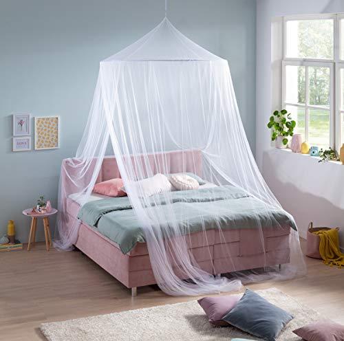 RSP® Moskitonetz Home für Doppelbetten mit extra großem Spannring für Zuhause (mit Eingang)