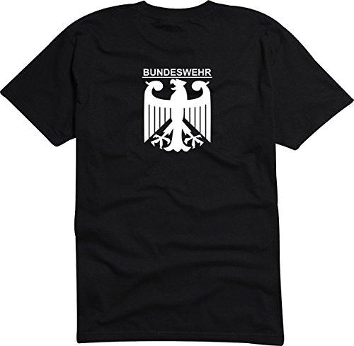 Black Dragon - T -Shirt Herren - Party - Funshirt - Fasching schwarz - Bundeswehr mit Adler - S