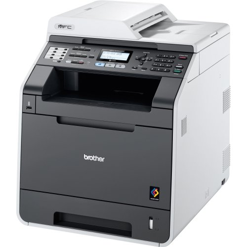Brother MFC-9460CDN Farblaserdrucker (Drucker, Scanner, Kopierer, Fax, 2400 x 600 dpi, USB 2.0, Duplex) weiß/grau