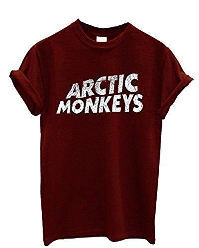 Nueva Camiseta Arctic Monkeys en Cotone Band Indie Rock, Garage Rock, Revival Post-Punk-Granate-Small
