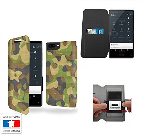 Case-Industry Custodia Maze Alpha 4G Camuffamento Vert Collection Pattern Case - Flip Cover in Pelle PU Case Portafoglio - Cover Maze Alpha 4G