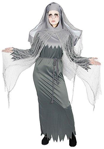 Foxxeo besessene Nonne Geister Zombie Kostüm für Damen - Größe S-XXXL - Halloween Fasching Karneval Größe XXXL