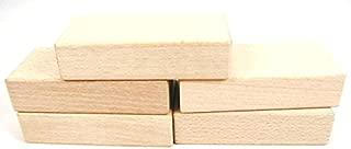 StarMall Set of 5 Montessori Teaching Aids Material Unfinished Wooden Craft Blocks Rectangulars