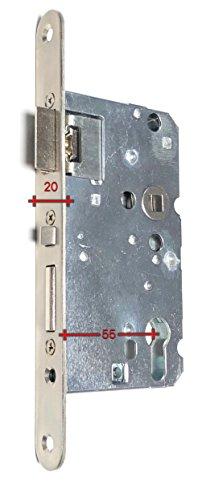 Automatisch selbst verriegelndes Einsteckschloss Gladius Schnegel 72 Dorn 55 oder 65 (Dorn 55mm Stulp 20mm)