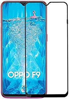 Oppo F9 (F9 Pro) Tempered Glass Screen Protector Shock Proof Glass - Black