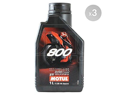MOTUL 8002T Factory Line Ester sintético Racing motocicleta aceite del motor–3x 1L)