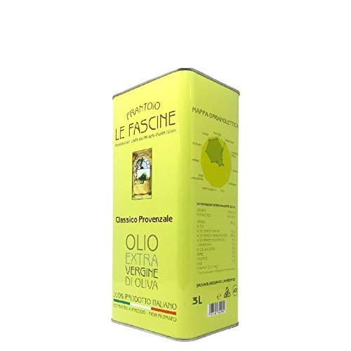 Le Fascine Natives Olivenöl Extra Virgin Extravirgin 100% Italienisch 3L (3 Liters) Olio Extravergine D'Oliva 100% Italiano