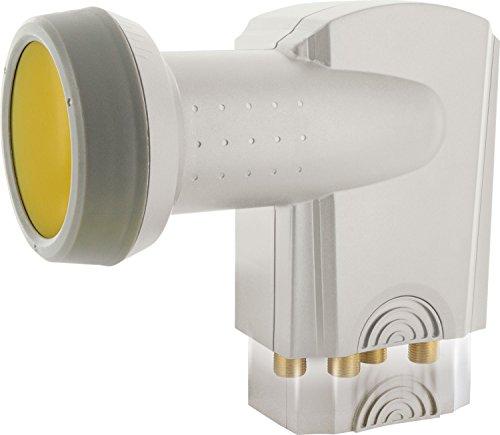 SCHWAIGER -395- Quattro LNB con Protezione Solare | Digitale | per multiswitch | Cappuccio LNB Estremamente Resistente al Calore | utilizzo con Parabola satellitare | multifeed Compatibile