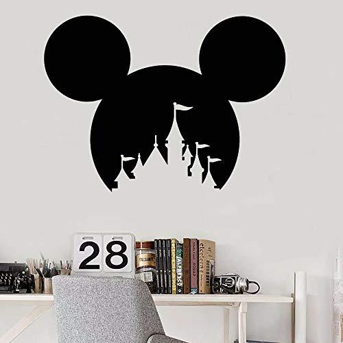 Anime cartoon mouse house decoración de la habitación de los niños arte pegatinas de pared castillo pegatinas de pared decoración de la habitación pegatinas de dormitorio pegatinas de pared