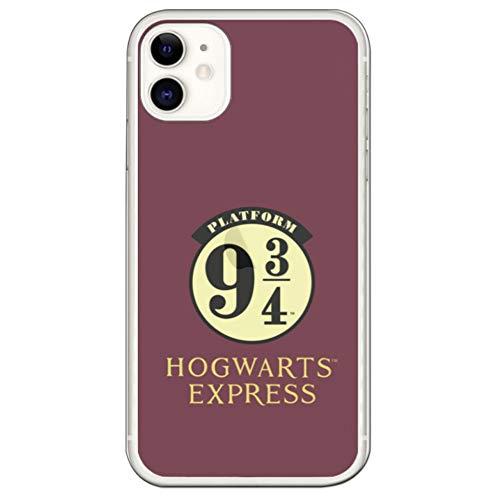 Movilshop Funda para [ iPhone 11 ] Harry Potter Oficial [Hogwarts Express Anden 9 3/4] de Silicona Flexible Transparente Carcasa Case Cover Gel para Smartphone.