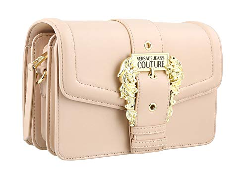 Versace Jeans Couture Powder Pink Medium Structured Baroque Shoulder Bag for womens