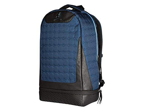 Nike Air Jordan Retro 13 Backpack Laptop Storage Shoe Pocket Bag (Navy Blue)