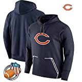 Jacket Sweat à Capuche Jersey NFL - Rugby Chicago Bears Football Training Costume Running Sweat Workout Blue-L