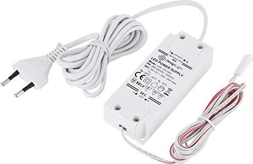 12V MINI-AMP - LED Trafo Netzteil 16W - mit EURO-Stecker und MINI-AMP Buchse - weiß