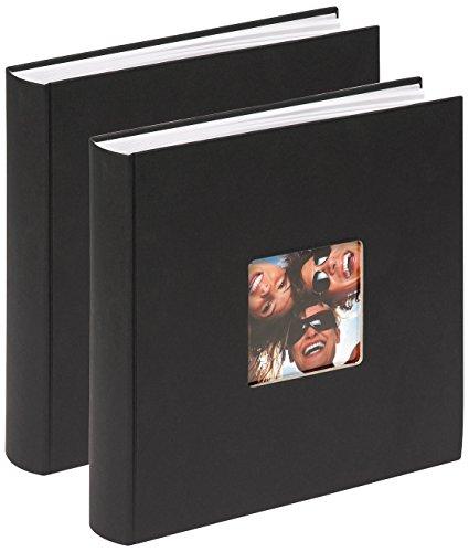 Walther Design FA-208-BD Fun - Álbum de Fotos, 100 Páginas Blancas, con Corte en el Frente para un Foto, color Negro, 30 x 30 cm