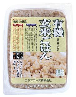 オーサワ 有機活性発芽玄米ごはん 小豆入 160g×2個            EAN: 4932828023007