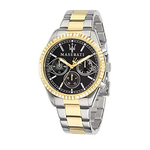 Orologio da uomo, Collezione Competizione, movimento al quarzo, multifunzione, in acciaio e PVD oro giallo - R8853100016