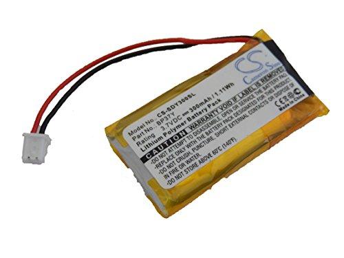 vhbw Batterie Li-polymère 300mAh (3.7V) pour Collier pour Chien, dresseur à Distance Dogtra YS300 Bark Control Collar comme BP37Y.