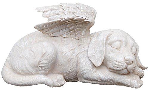 Sleeping Angel Dog with Wings Garden Statue, 9.75 x 5 - Napco 11144