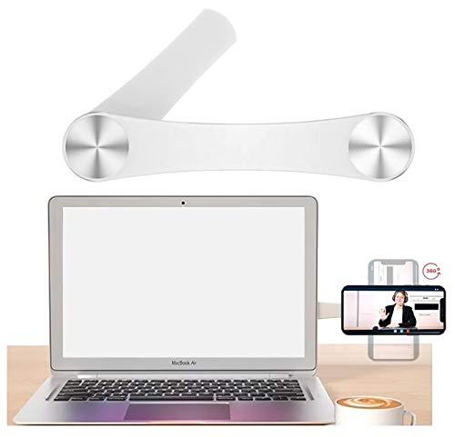 Desk Plus UK - Multifunctional Magnetic Bracket with 360° Rotation - Universal Stand for Mobile Phone, Laptop Computer Desktop, Monitor - Adjustable Mount Holder Side Dual Multi Screen Magnet