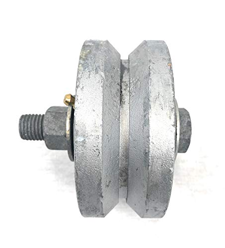 4' Diameter X 1.7' Width Malleable V-Groove Wheel with Bolt & Nut, 1,000 lbs Capacity (2)