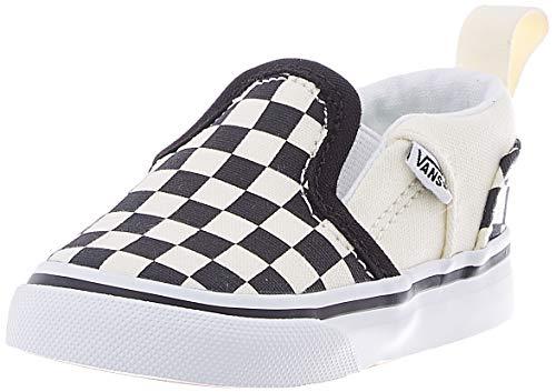 Vans Unisex Baby Asher V-Velcro Sneaker, Weiß (Checkers/Black/Natural), 24 EU