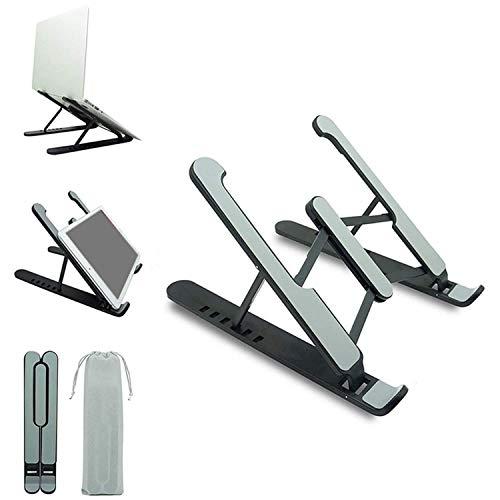 Laptop-Ständer, verstellbar, tragbar, Laptop-Halterung für Schreibtisch, zusammenklappbar, kompatibel mit 25,4 cm bis 43,8 cm (10 Zoll) Laptops