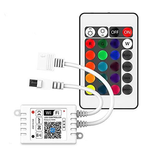 Versione aggiornata Controller striscia led RGB compatibile con Alexa e Google Home, telecomando / timer wireless da smartphone