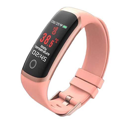 Sport Sport braccialetto intelligenti che eseguono Timer Swim 24 ore di sonno di monitoraggio chiamate vocali orologio multifunzionale (Color : Pink)