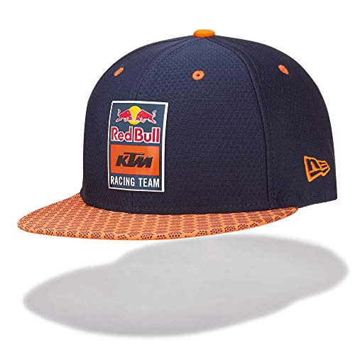Red Bull KTM New Era 9Fifty Hex Era Flapcap, Blau Unisex One Size Kappe, KTM Factory Racing Original Bekleidung & Merchandise