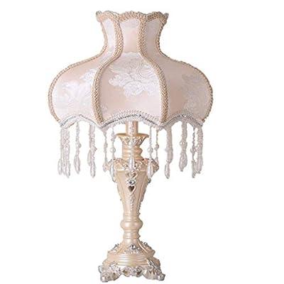 TyEstilo: estilo victoriano, artesanía hecha a mano, que garantiza que cada lámpara esté bellamente elaborada, luces de ensueño, hermosas lámparas de mesa, decoración perfecta para la habitación ✸Material de la lámpara: la pantalla está hecha de tela...