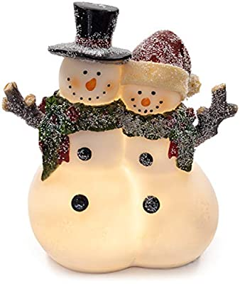 VP Home Christmas Snowman Couple Glowing LED Holiday Light