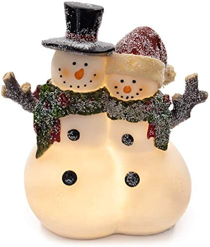 VP Home Snowman Couple Glowing LED Holiday Light product image
