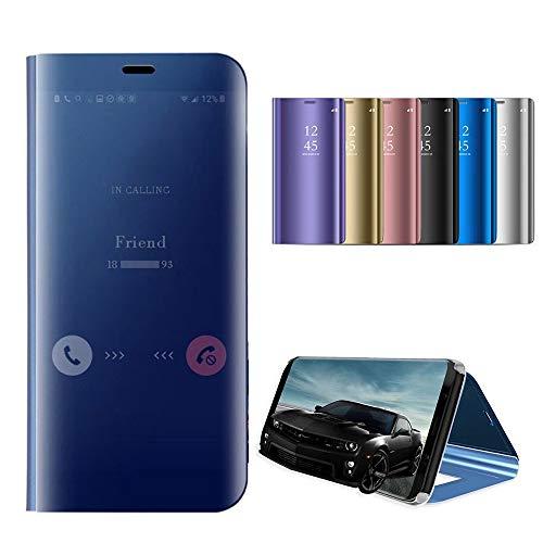 Capa espelhada Idol compatível com Samsung Galaxy Note 9 Note 8 S9 S9 Plus S8 S8 Plus capa de metal galvanizada inteligente transparente flip fólio capa protetora de maquiagem (rosa, Samsung Galaxy Note 8)