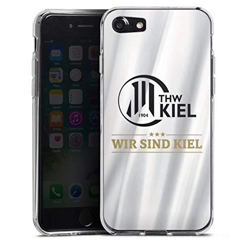 DeinDesign Silikon Hülle kompatibel mit Apple iPhone SE (2020) Case transparent Handyhülle THW Kiel Handball Offizielles Lizenzprodukt
