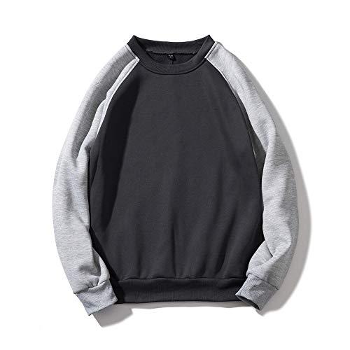Lushi Sudadera de manga larga para parejas, ideal para niños y niñas, camiseta deportiva de cuello redondo, suéter simple, multicolor salvaje, suelto, modelos de pareja salvaje