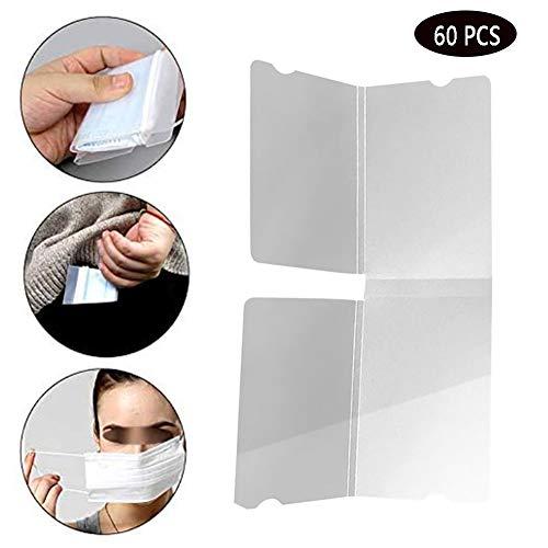 Portable Maskers Storage Clip, medisch Beauty stofmasker Storage Box, opvouwbaar en Milieubescherming, gemakkelijk schoon te maken, Masker opbergtas,60 PCS