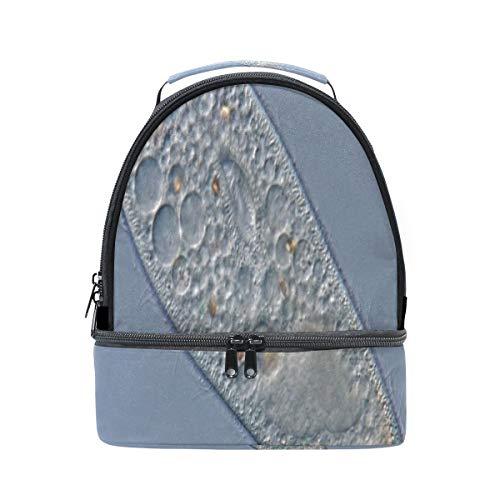Leben Ursprung Paramecium Tragbare Schule Schulter Tote Lunchpaket Handtasche Kinder Doppel Lunchbox Wiederverwendbare Isolierte Kühler Für Frauen Student Travel Outdoor