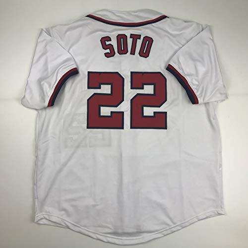 Unsigned Juan Soto Washington White Custom Stitched Baseball Jersey Size Men's XL New No Brands/Logos