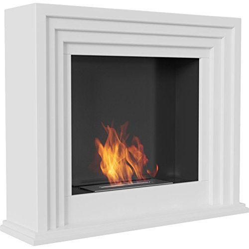 Read About Domadeco Corona - simple and elegant white portal biofireplace/Fuel ethanol fireplace/mod...