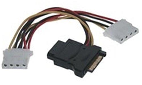 Microconnect PI18042 Cable de alimentación Interna 0,4 m - Cables de alimentación Interna (0,4 m, SATA de 15 Pines, 2 x Molex (4-Pin), Male Connector/Female Connector, Derecho, Derecho)