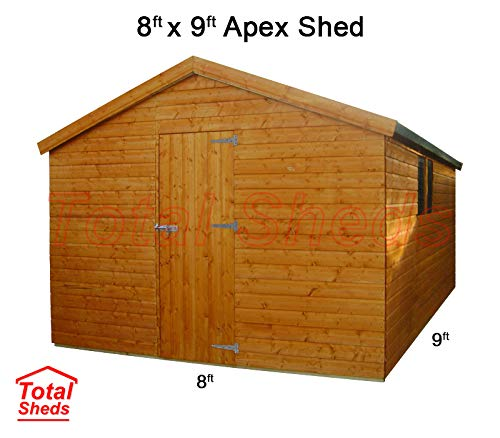 Total Sheds 9ft (2.7m) x 8ft (2.4m) Shed Apex Shed Garden Shed Timber Shed